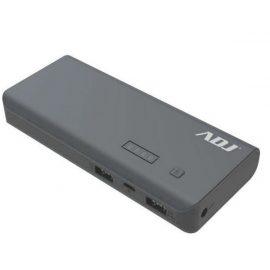 POWER BANK 10000MAH P/USB*2 THOR GY C/CAVO MICROUSB5V/2/TORCIA/INDI ADJ