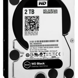 HD 3,5 2TB 7200RPM 64MB SATA3 BLACK WD BLACK ALTE PRESTAZIONI