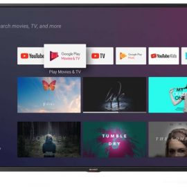 "TV 55"" SHARP ITALIA BLACK 4K SMART 3HDMI ANDROID 9 HARMAN KARDON"