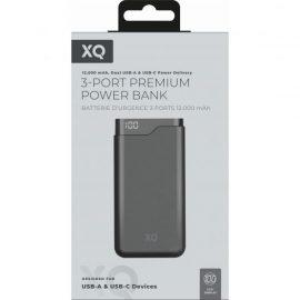POWER BANK XQISIT 12000MAH DUAL USB FAST CHARGING BLACK