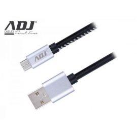 CAVO USB 2.0 A-MICRO A 1 MT RIVEST BK PELLE/CONN.METALLICI AIUMR ADJ
