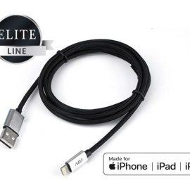 CAVO USB 2.0 LIGHTNING 1.5MT MFI BK RIVEST.NYLON/CONN.METALLO ADJ