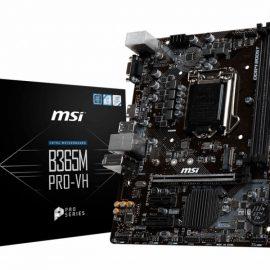 MB MSI B365M PRO-VH 1151 COFFEELAKE 2D4 1M.2 6U3.1 6U2 6S3 HDMI/VGA