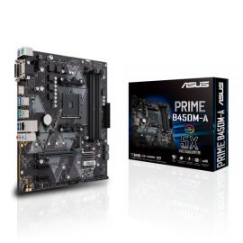 MB ASUS B450M-A AMD RYZEN AMD 4D4 V/H/D GBL M.2 6U3 PS2
